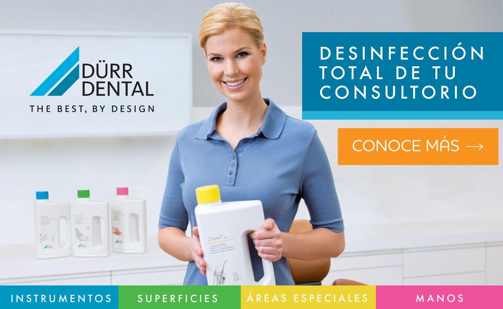 Desinfección total de tu consultorio materiales dentales Home banner durr 2